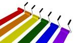 Malerrollen regenbogenfarben